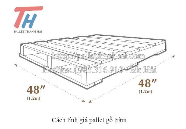 Cách tính giá pallet gỗ tràm